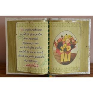 Carte decorativa - Un simplu multumesc nu este de ajuns... nasilor (14x21 cm)