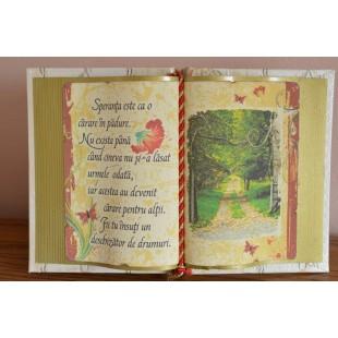 Carte decorativa - Speranta este ca o carare... (14x21 cm)