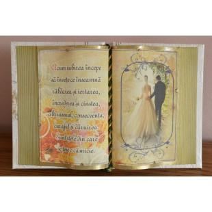 Carte decorativa - Acum iubirea incepe sa invete... (14x21 cm)