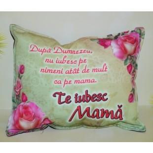 Perna decorativa - Te iubesc Mama ( 33x26 cm )