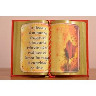Carte decorativa magnetica - In fiecare zi minunea dragostei...(7x9,50 cm)