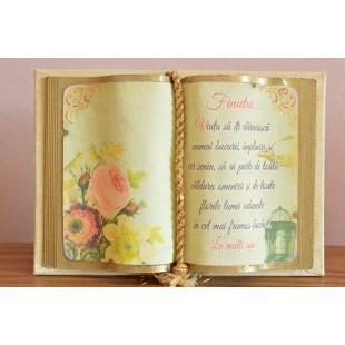 Carte decorativa - Finului... Viata sa iti daruiasca...(10x14 cm)