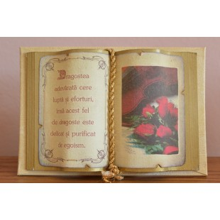 Carte decorativa - Dragostea adevarata cere lupta...(10x14 cm)
