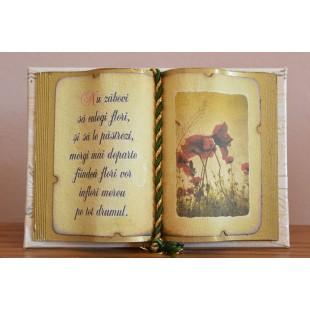 Carte decorativa - Nu zabovi sa culegi flori...(10x14 cm)