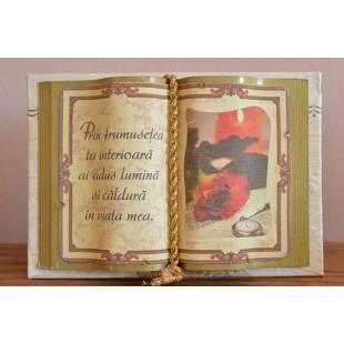 Carte decorativa - Prin frumusetea ta interioara...(10x14 cm)