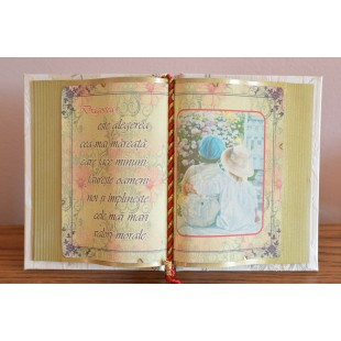 Carte decorativa- Dragostea... este alegerea... (14x21 cm)