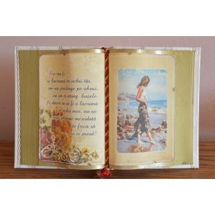 Carte decorativa- De- as fi o lacrima...(14x21 cm)