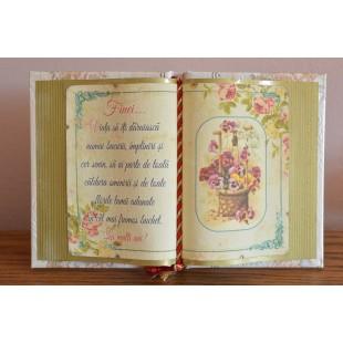 Carte decorativa- Finei...Viata sa iti daruiasca...(14x21 cm)