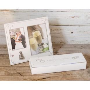 Set cadou pentru nunta - Rama foto + cutie cu magnet