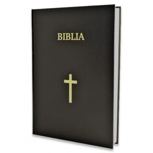 Biblia cu scris foarte mare, marime foarte mare, format A4, coperta tare, neagra, cu cruce, trad. Cornilescu [SI 093 CT]