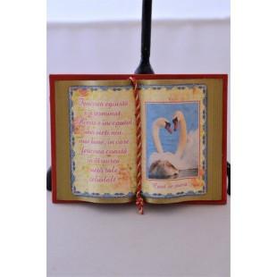 Carte decorativa magnetica - Fericirea egoista...(7x9,50 cm)