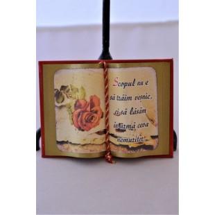 Carte decorativa magnetica - Scopul...(7x9,50 cm)