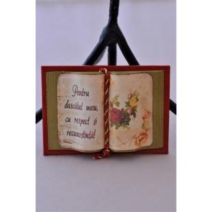 Carte decorativa magnetica - Pentru dascalul meu... (5x7 cm)