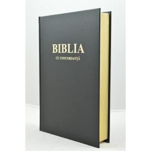Biblia foarte mare, cartonata, scris foarte mare, neagra, aurita, concordanta, trad. Cornilescu [CO 083 CT]