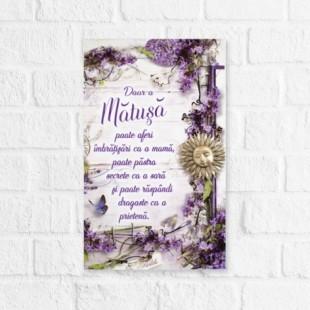 Tablou motivational   (16x26cm) -  Matusa
