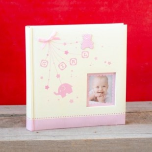 Album foto baby - Girl cu poza (22 x 22 x 4.5 cm)