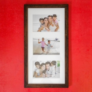 Rama foto colaj - tablou 3 poze (23x43 cm)