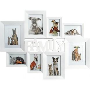 Rama foto multipla Family colaj 6 poze, alb - 72x56 cm