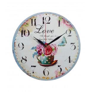 Ceas perete - Love (28 x 28 cm)