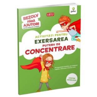 Activitati pentru exersarea puterii de concentrare - Carte cu activitati pentru copii (3-4 ani)