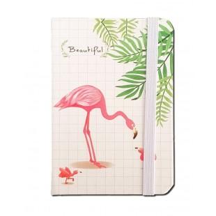 Carnetel A7 pentru femei - Flamingo 2 (7.5x10.5x1.5 cm)