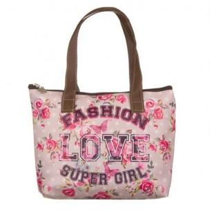 Geanta - Fashion, Love, Super girl (28x7x20 cm)