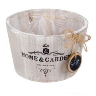 Ghiveci pentru flori din lemn - Home & Garden (18x11cm)