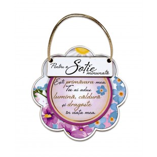 Placheta sentimentala floare - Sotie