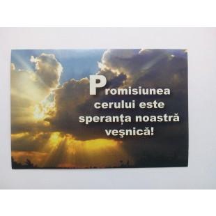 Card cu maxime - Promisiunea Cerului este speranta noastra vesnica