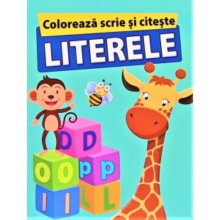 Coloreaza scrie si citeste LITERELE (6-7 ani)