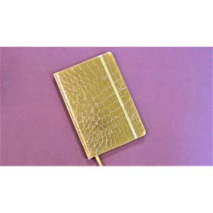 Carnet A5, auriu, elastic auriu