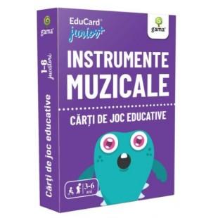 Carti de joc Educative - Instrumente muzicale (3-6 ani)