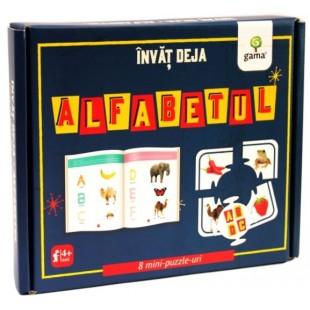 Invat deja alfabetul - Carte + 8 Mini puzzle-uri (3-5 ani)