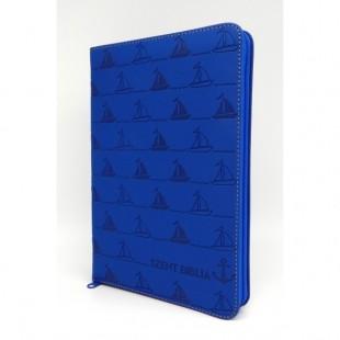 Szent Biblia - Közepes Biblia, Kék Vitorlás, Cipzárral, Károli Gáspár, Forditása (Biblia medie in lb. maghiara, fermoar)