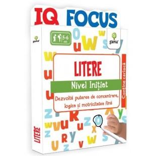 Litere, nivel initiat - Activitati cu fise pentru copii (5-6 ani)