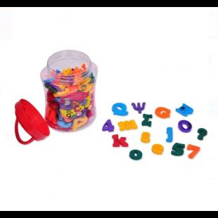 Litere si cifre magnetice - 126 buc. - Activitati pentru copii (3+)