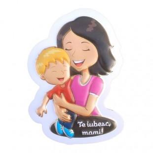 Magnet plastic - Te iubesc, mami! (Model 1)