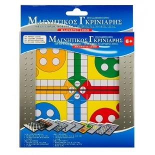 Joc de societate - Mini Ludo magnetic - Joc pentru copii (6+)