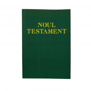 Noul Testament (traducere prof. Viorel Rațiu), marime foarte mare, coperta cartonata flexibila, culoare verde
