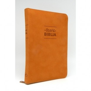 Szent Biblia - Közepes Biblia, Őzbarna, Cipzárral, Károli Gáspár, Forditása (Biblia medie in lb. maghiara, fermoar)