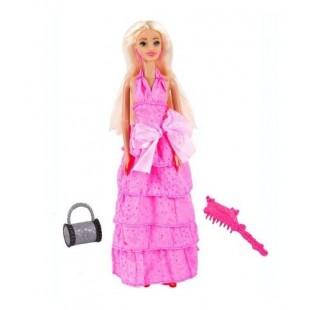 Papusa cu rochita roz din volanase - Betty, 30cm - Jucarii pentru copii (3+)