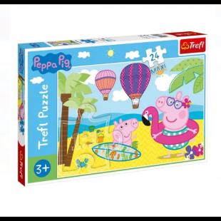 Puzzle Trefl - Peppa Pig, 24 piese MAXI - Activitati pentru copii (3+)