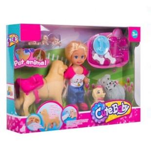 Papusa cu Labrador - Cute girl - Jucarii pentru copii (3+)