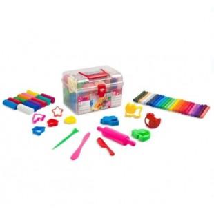 Plastilina in valiza, 36 culori +  matrite (52 buc.)- Activitati pentru copii (3+)