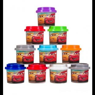 Plastilina DOH, 10 culori - Cars - Activitati pentru copii (3+)