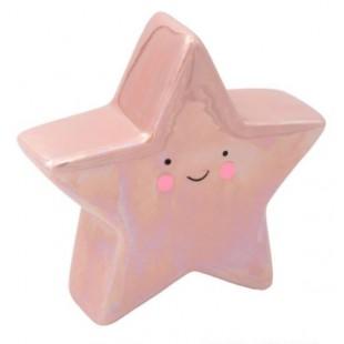 Pusculita in forma de stea, roz