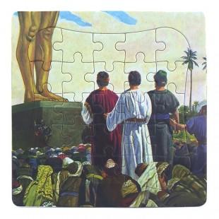 Puzzle biblic - Șadrac, Meșac și Abed-Nego (14x14 cm)