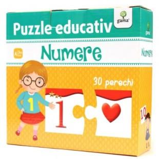 Puzzle educativ - Numere - Activitati pentru copii (3-4 ani)