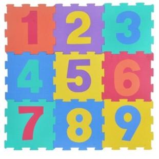 Puzzle de podea - Numere, 9 buc. - Activitati pentru copii (3+)