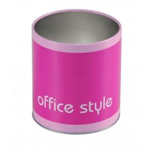 Suport de creioane, roz - Office Style (10x11 cm)